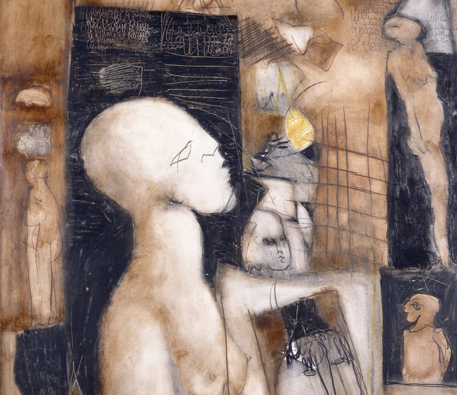 Francoise Baudru Artiste peintre Brun et noir 1