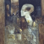 Francoise Baudru Artiste peintre Brun et noir 10