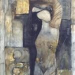 Francoise Baudru Artiste peintre Brun et noir 11