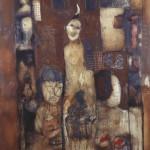 Francoise Baudru Artiste peintre Brun et noir 4