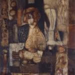 Francoise Baudru Artiste peintre Brun et noir 5