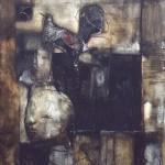 Francoise Baudru Artiste peintre Brun et noir 7